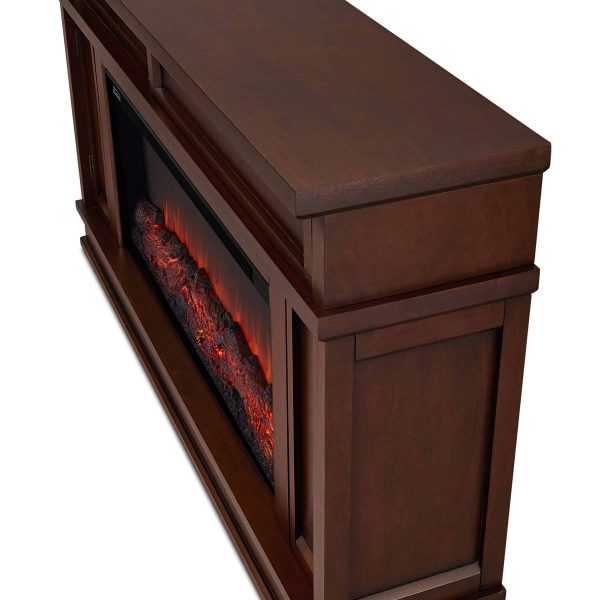 Torrey Electric Fireplace in Dark Walnut by Real Flame 2