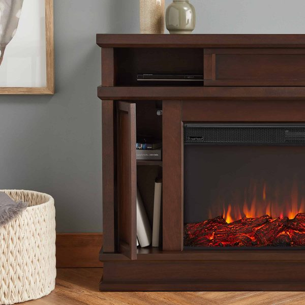 Torrey Electric Fireplace in Dark Walnut by Real Flame 3