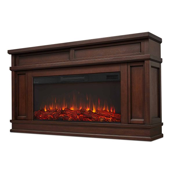 Torrey Electric Fireplace in Dark Walnut by Real Flame 4