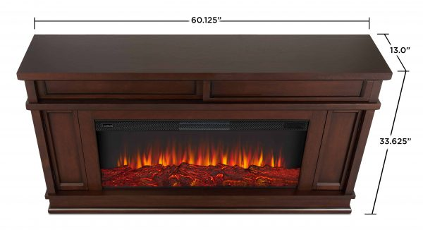Torrey Electric Fireplace in Dark Walnut by Real Flame 5
