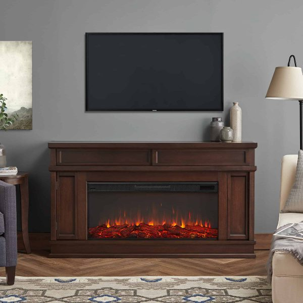 Torrey Electric Fireplace in Dark Walnut by Real Flame