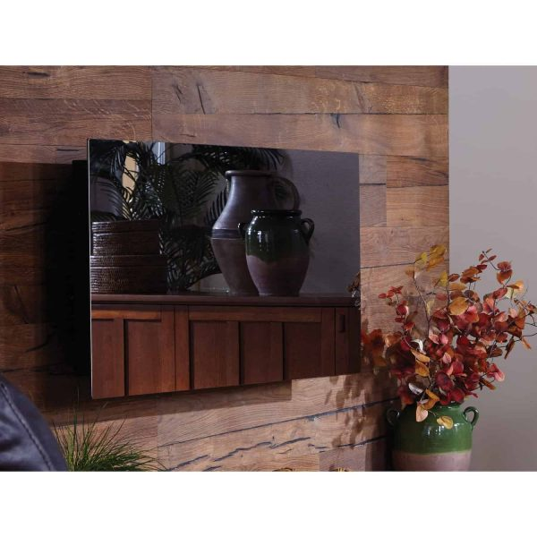 Touchstone Mirror Onyx Wall Mount Electric Fireplace 1