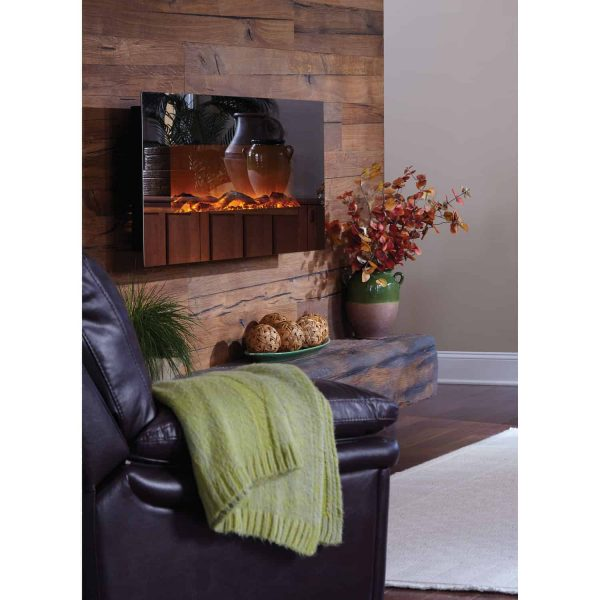 Touchstone Mirror Onyx Wall Mount Electric Fireplace 2