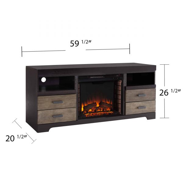 Trandling Fireplace Media Console 1