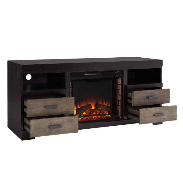 Trandling Fireplace Media Console 8
