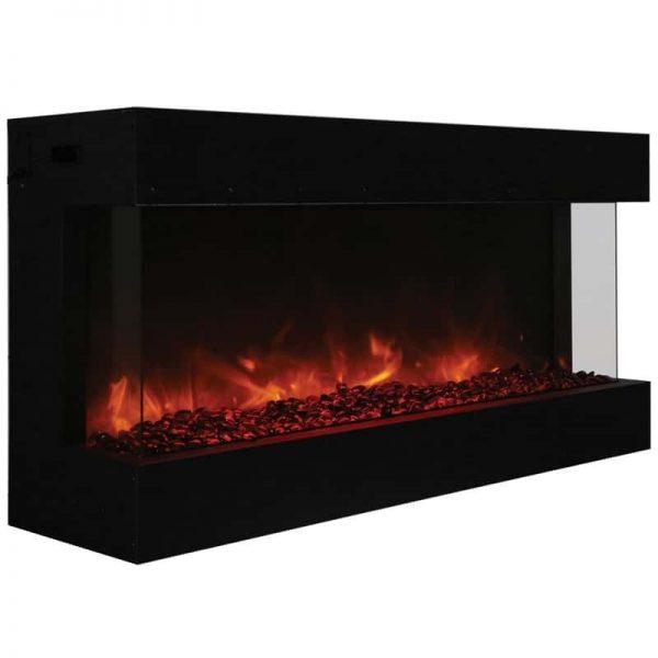 """Tru View 50"""" 3 Sided Glass Electric Fireplace 2"""
