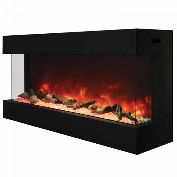 """Tru View 50"""" 3 Sided Glass Electric Fireplace 3"""