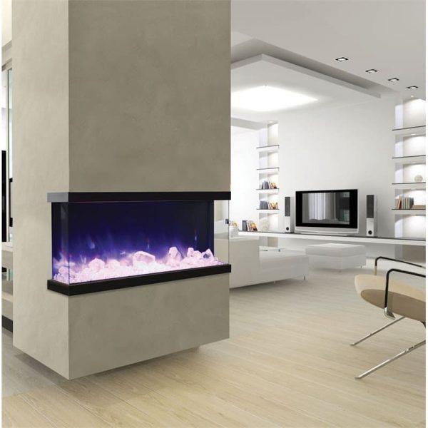 """Tru View 50"""" 3 Sided Glass Electric Fireplace"""