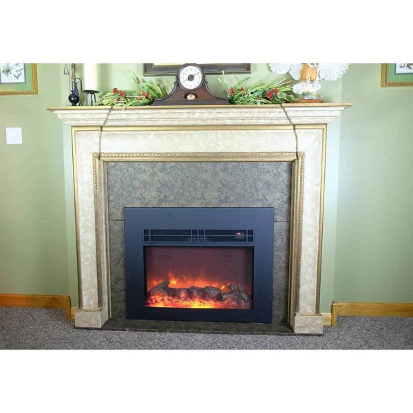 True Flame electric fireplace insert 1