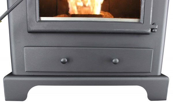 US Stove 2,200 Sq. Ft Pellet Heater with Ash Pan 11