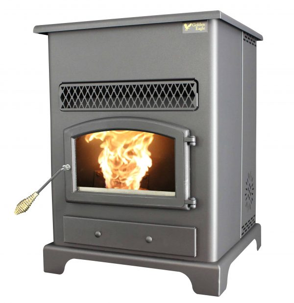 US Stove 2,200 Sq. Ft Pellet Heater with Ash Pan 7