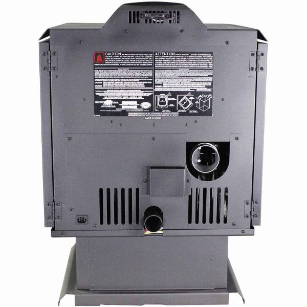 US Stove 2,200 Sq. Ft. Bay Front Pellet Stove with Ash Pan and Remote Control 2