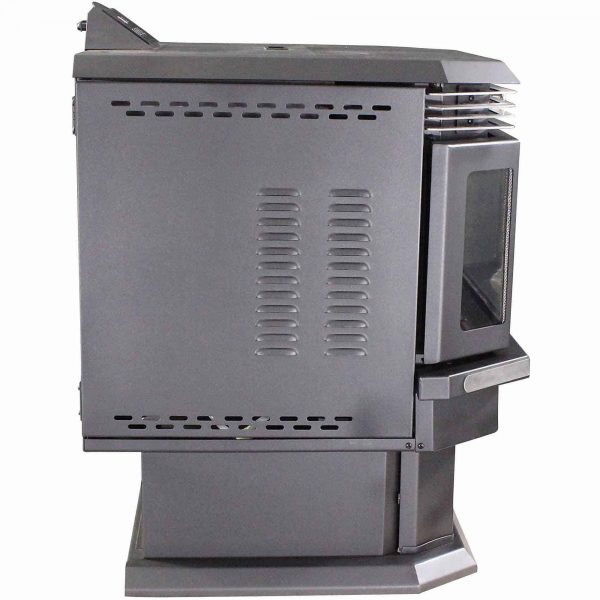 US Stove 2,200 Sq. Ft. Bay Front Pellet Stove with Ash Pan and Remote Control 4