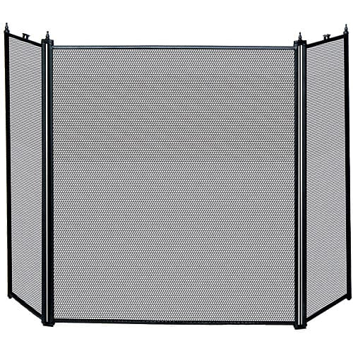 UniFlame 3-Fold Fireplace Screen