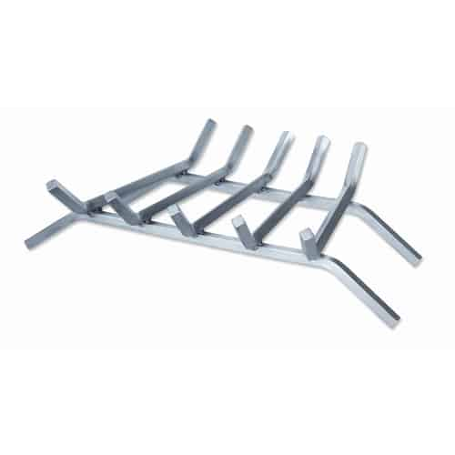 UniFlame 6-Bar Stainless Steel Fireplace Bar Grate - 27 inches 1