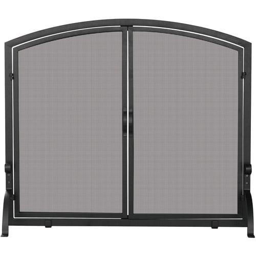 UniFlame Single-Panel Wrought Iron Screen with Doors