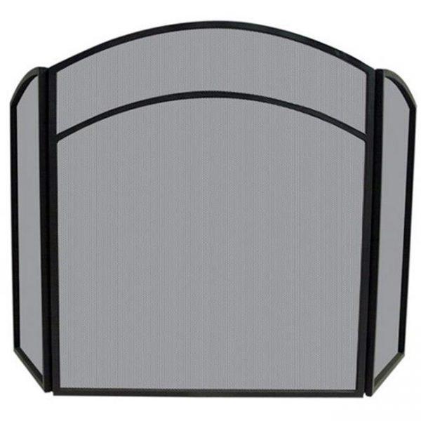 Uniflame 3 Fold Black Wrought Iron Arch Top Screen
