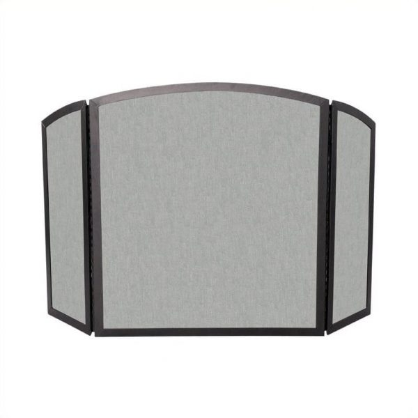 Uniflame 3 Fold Bronze Wrought Iron Screen With Continuous Arch