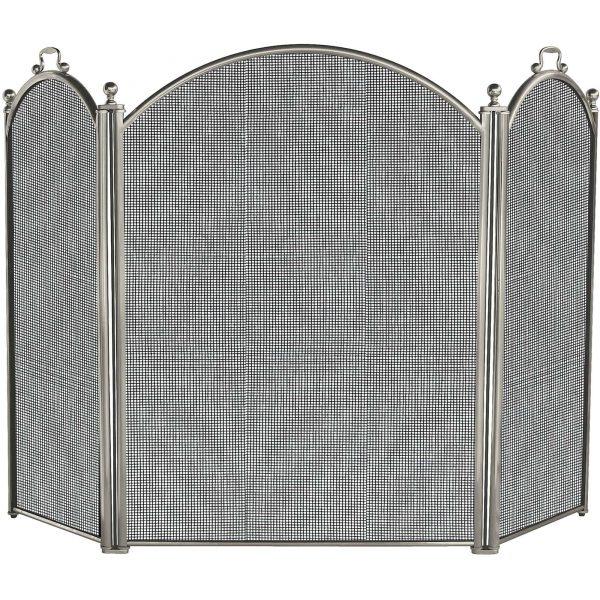 Uniflame 3-Fold Satin Pewter Large Fireplace Screen