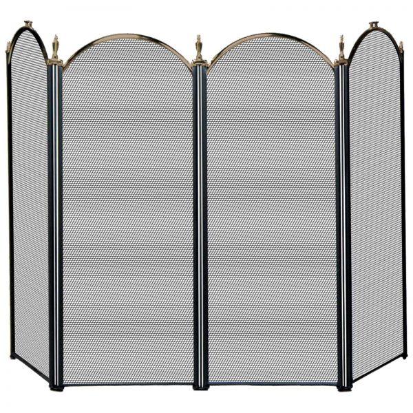 Uniflame 4 Panel Triple-Plated Folding Fireplace Screen 3