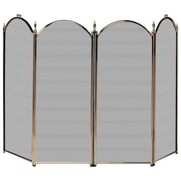 Uniflame 4 Panel Triple-Plated Folding Fireplace Screen 4