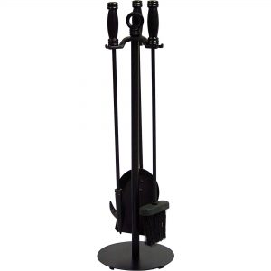 Uniflame 4-Piece Wrought Iron Fireplace Toolset