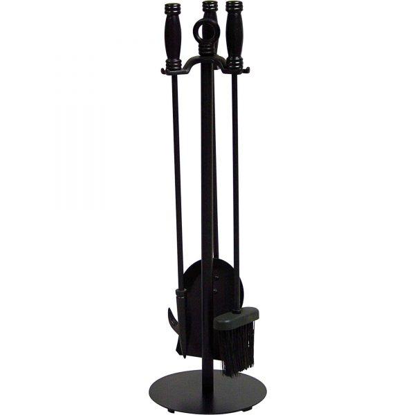 Uniflame 4-Piece Wrought Iron Fireplace Toolset