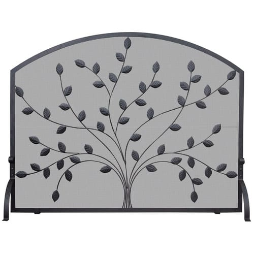 Uniflame Corporation Single Panel Wrought Iron Fireplace Screen
