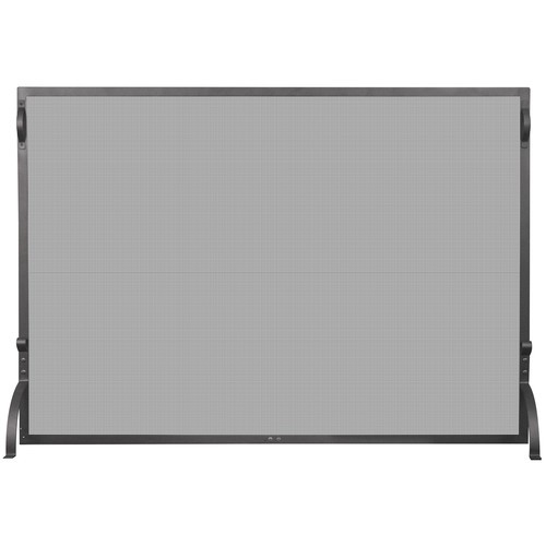 Uniflame Corporation Single Panel Wrought Iron Spargkguard Fireplace Screen