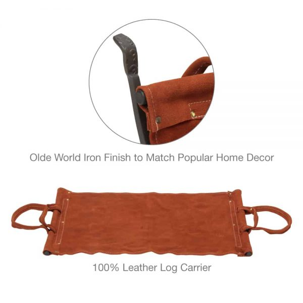 Uniflame Olde World Iron Log Holder 5