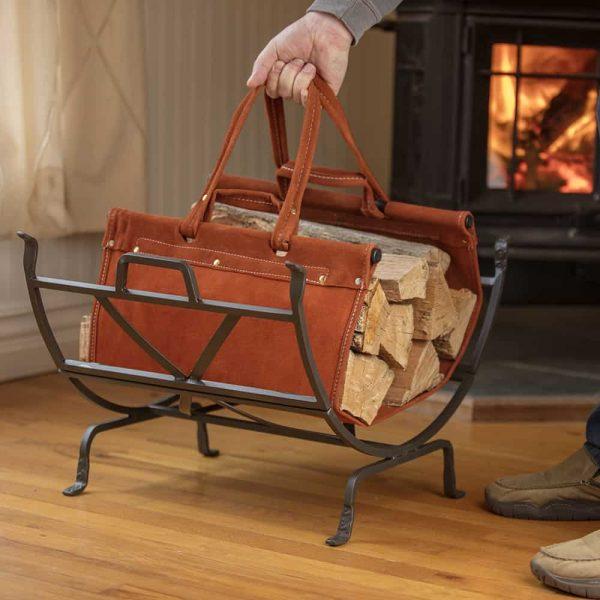 Uniflame Olde World Iron Log Holder 8