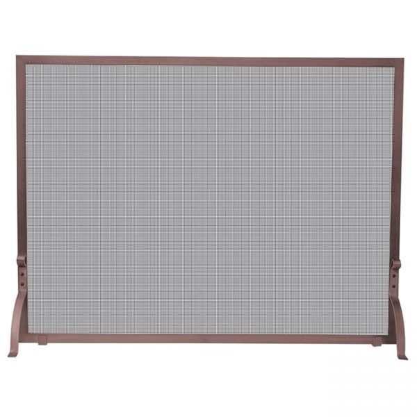 Uniflame S-1301 Single Panel Antique Copper Finish Screen