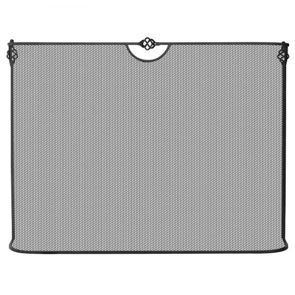 Uniflame Single Panel Black Wrought Iron Spark Guard Screen