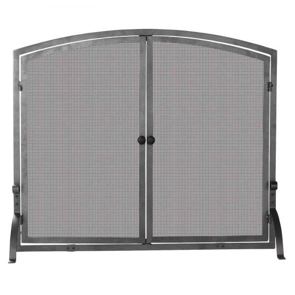 Uniflame Single Panel Iron Fireplace Screen with Doors
