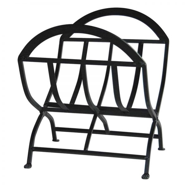 Uniflame Wrought Iron Fireplace Ensemble with Log Rack 2