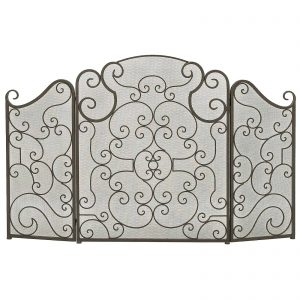 Urban Designs Monticello Protective 3-Panel Fireplace Screen