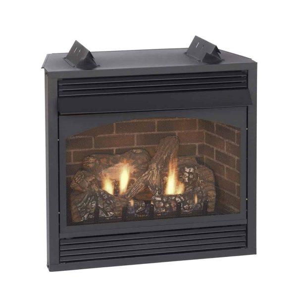 "Vail 24"" Vent Free Millivolt Fireplace with Slope Glaze Burner"