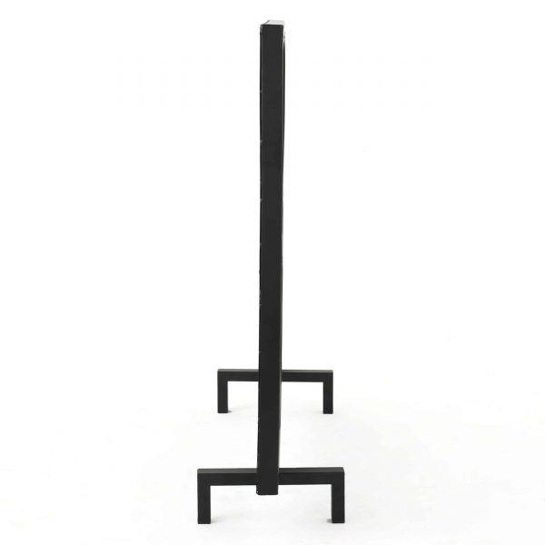 Veritas Single Panel Iron Fireplace Screen, Black 2