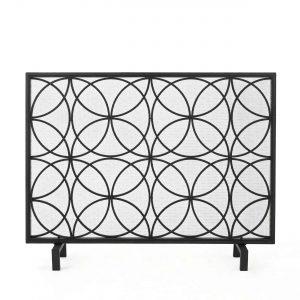 Veritas Single Panel Iron Fireplace Screen