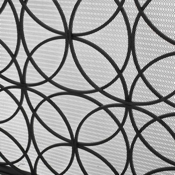 Veritas Single Panel Iron Fireplace Screen, Black 3