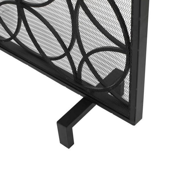 Veritas Single Panel Iron Fireplace Screen, Black 4