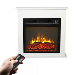 Electric Fireplace Heater with Remote Control