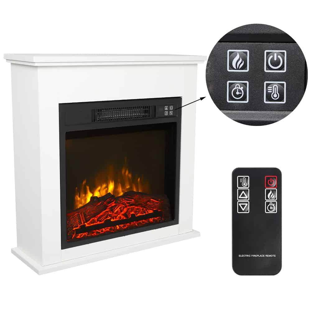 Veryke Electric Fireplace Electric Fireplace Heater With Remote Control Room Heater For Small Spaces Indoor Heater Freestanding Stove Heater With Realistic Flame Black Fireplacess Com