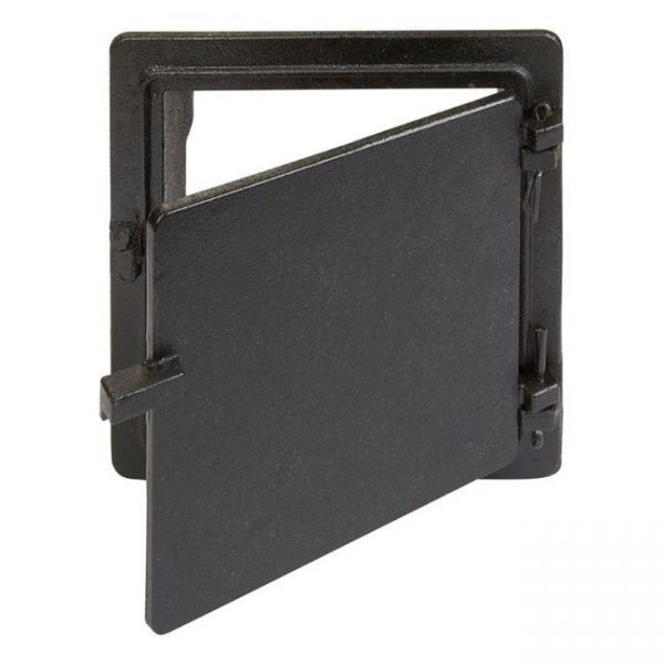 Vestal Manufacturing 4507497 Black Galvanized Cast Iron Cleanout Door