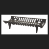 Vestal Painted Cast Iron Fireplace Grate Indoor and Outdoor
