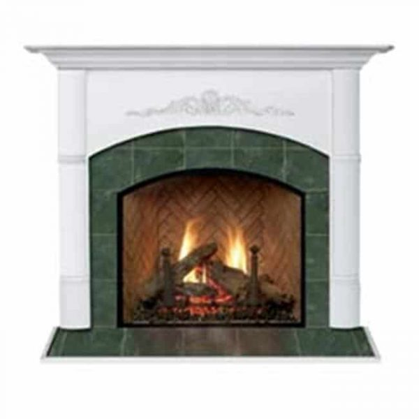 Viceroy A Flush Fireplace Mantel in Medium English Chestnut