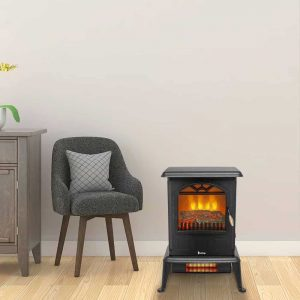 Voomwa Indoor Freestanding Electric Fireplace
