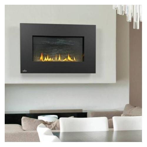 WHVF31P Vent Free Plazmafire Wall Hanging Liquid Propane Fireplace Complete With Slate Brick Panel Fuel Saving Electronic Ignition & Exclusive Topaz Crystaline Ember Bed
