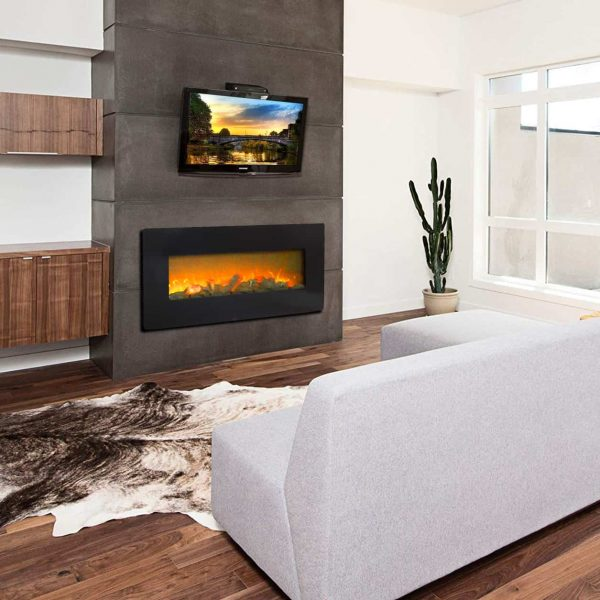 3D 1400W Electric Heaters for Indoor Use with Fake Wood 3 Flame Settings
