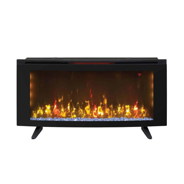 "Wall-Mounted Infrared Electric Fireplace Heater 42"" with Stand + Remote Control 2"